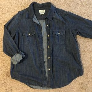 Universal Thread jean button up top